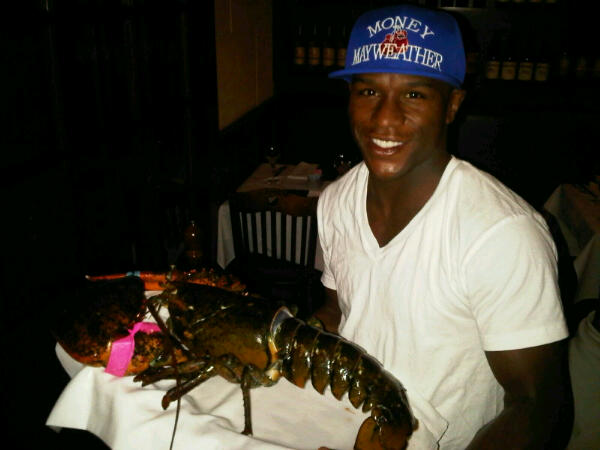 20lb lobster that cost a whopping $500 dollars Photo by Team Mayweather