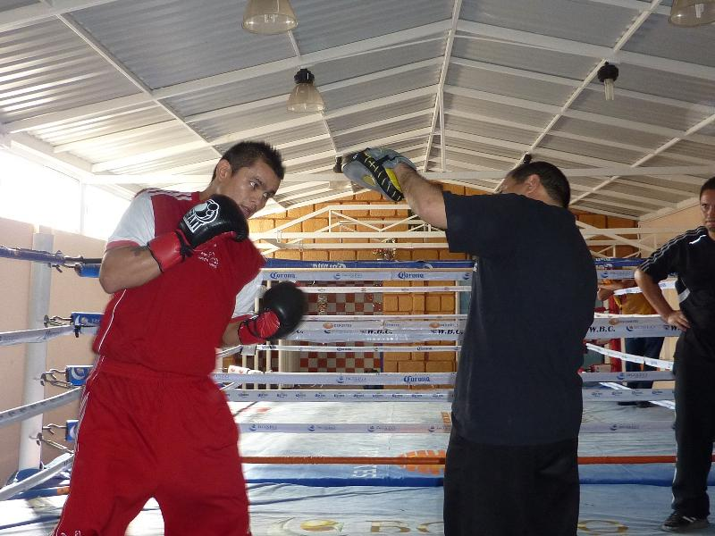 Maidana works out at the Boxeo de Gala in Mexico City as he prepares to fight Erik Morales.  Photo Credit:Golden Boy Promotions