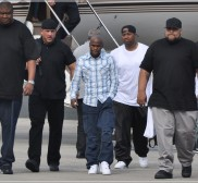 Floyd Mayweather and 50 cent arriving in Puerto Rico
