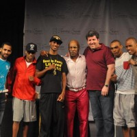 TEAM IRON MIKE (L-R) -- Alexei Marrero, Claudi Marrero, Albert Bell, Mike Tyson, CEO Gary Jonas, Ed Paredes and Argenis Mendez
