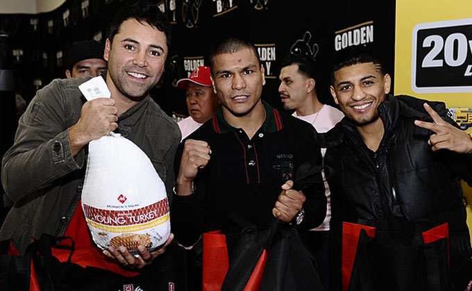 Abner Mares To Host 2nd Annual Turkey Giveaway also 4 as well 02 21 13 ptown2 likewise Animo Oscar De La Hoya Charter High School furthermore 54087 Global Crowdfunding Convention 2014 Slideshow. on oscar de la hoya donations